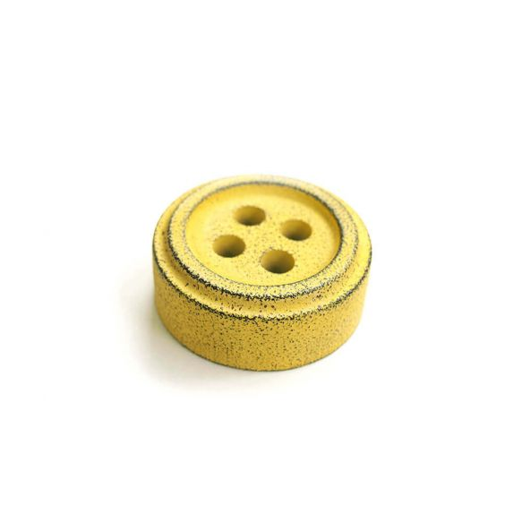 Cohana button paper weight (Yellow)