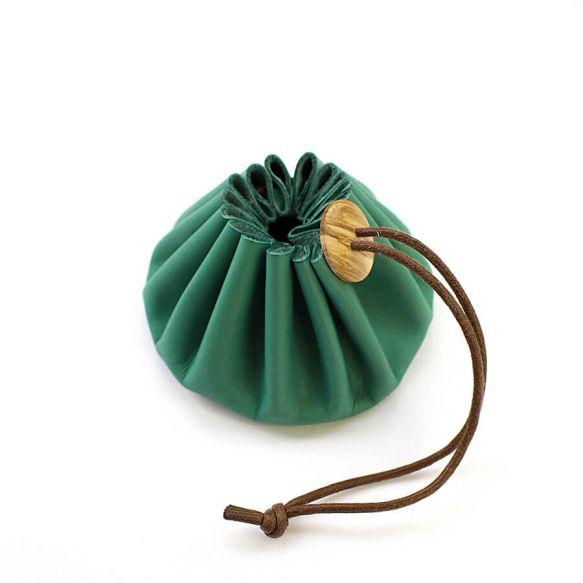 Cohana Himeji Leather Pouch (Green)