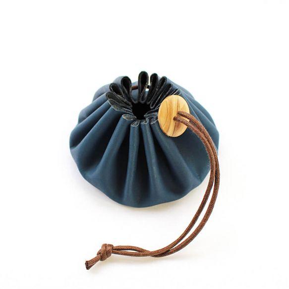 Cohana Himeji Leather Pouch (Blue)