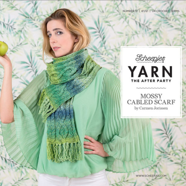 After Party 12 – Mossy Cabled Scarf