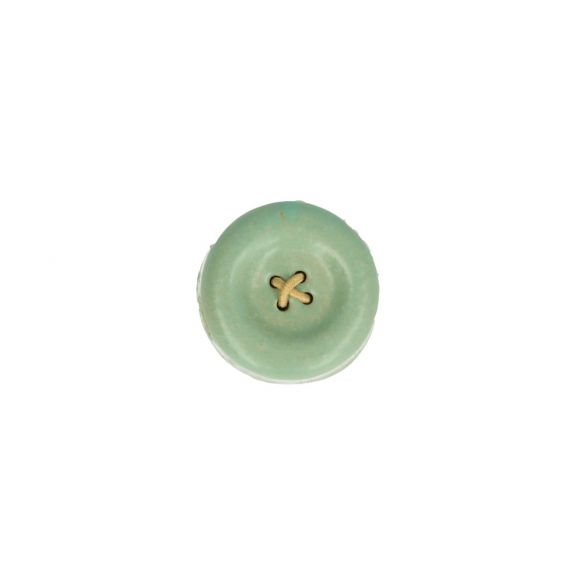 Cohana Shigaraki Ware Magnetic button (Green)