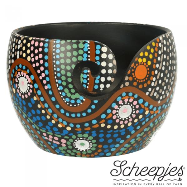 Aboriginal Yarn Bowl (Mango wood)