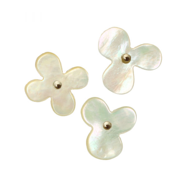 Cohana Flower Push Pins of Oyster Shell (white)