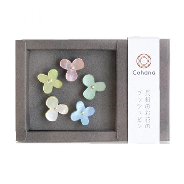 Cohana Flower Push Pins of Oyster Shell (various colours)