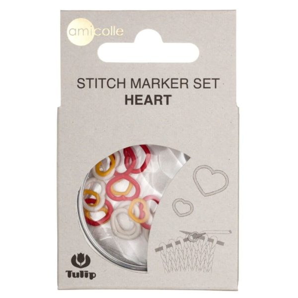 Tulip Heart-shaped Stitch Markers (set of 15)