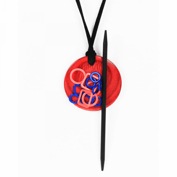 Knitpro Magnetic Knitter's Necklace (Cherry Berry)