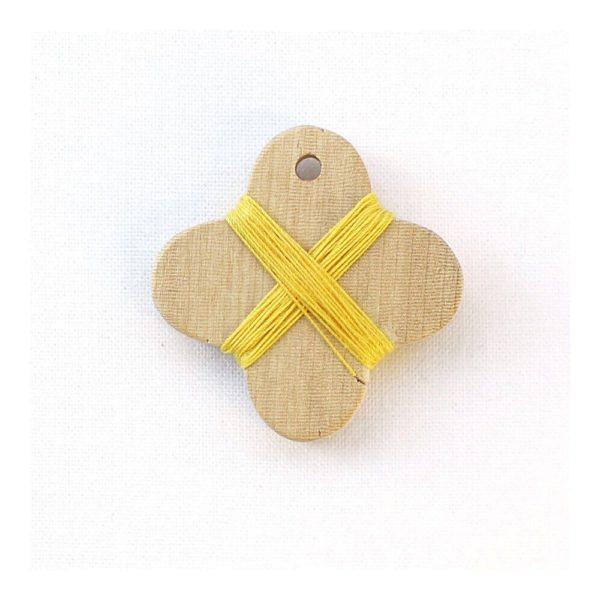 Cohana wooden thread winder (Yellow)