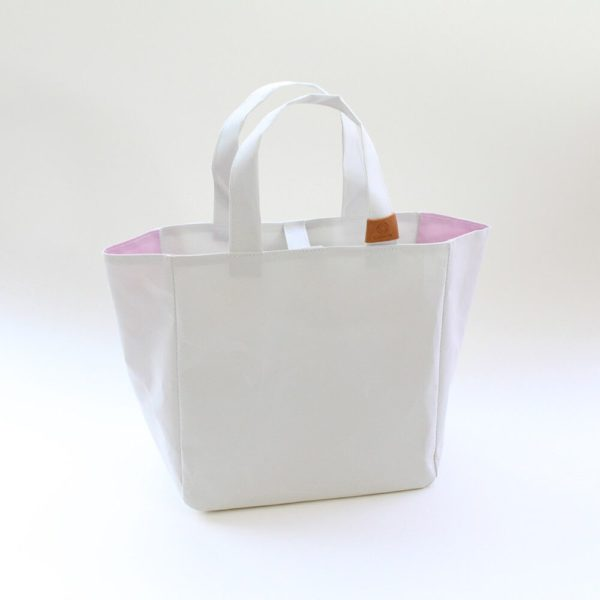 Cohana Washi project bag large (White/Pink)