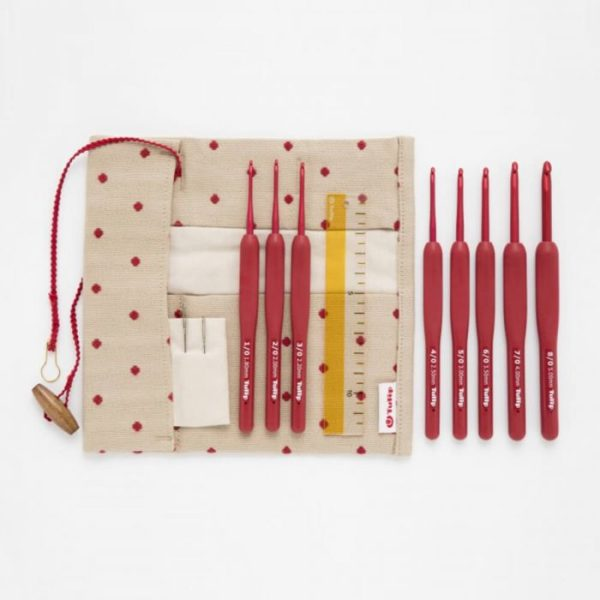 Tulip Etimo Soft Grip Crochet Hook Red Set (1.80mm-5.0mm)